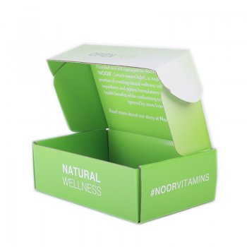 Personalized Logo Design Green Candy  Packaging Box in double side printing