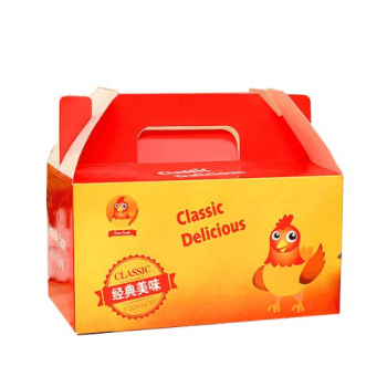 Custom recyclable fried chicken fast food packaging paper boxes
