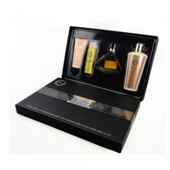 Customized Luxury Black Skincare Packaging Cosmetics Bottles Box