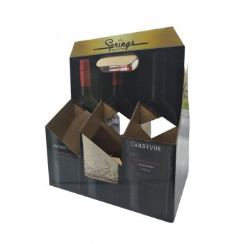 OEM Color printed Kraft paper 6 pack beer counter box display corrugated box