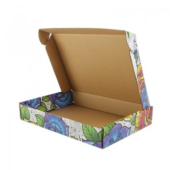 Recyclable Corrugated Paper color Custom Logo Postal Shipping Boxes