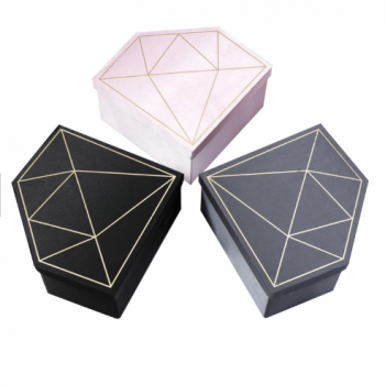Custom diamond shape packing gift box for flowers